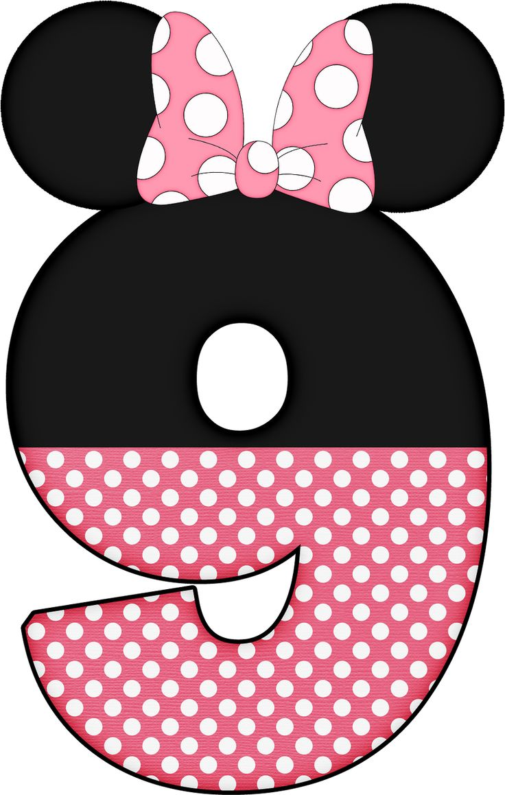 Number clipart minnie mouse. Best images on