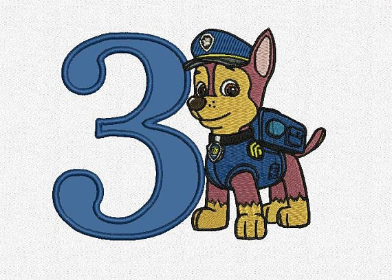 Number clipart paw patrol. Chase drawing at getdrawings