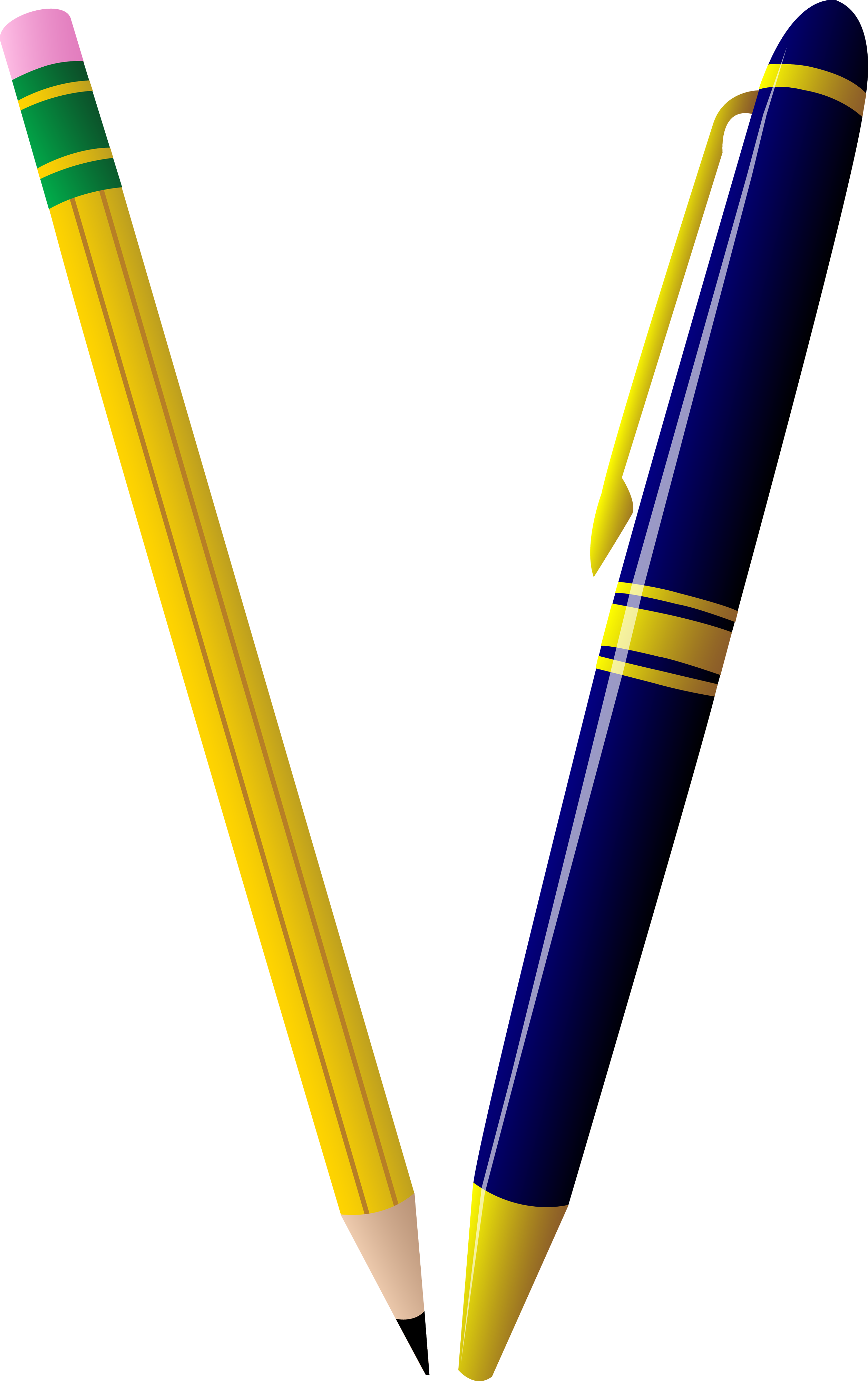 checkered drawing pen