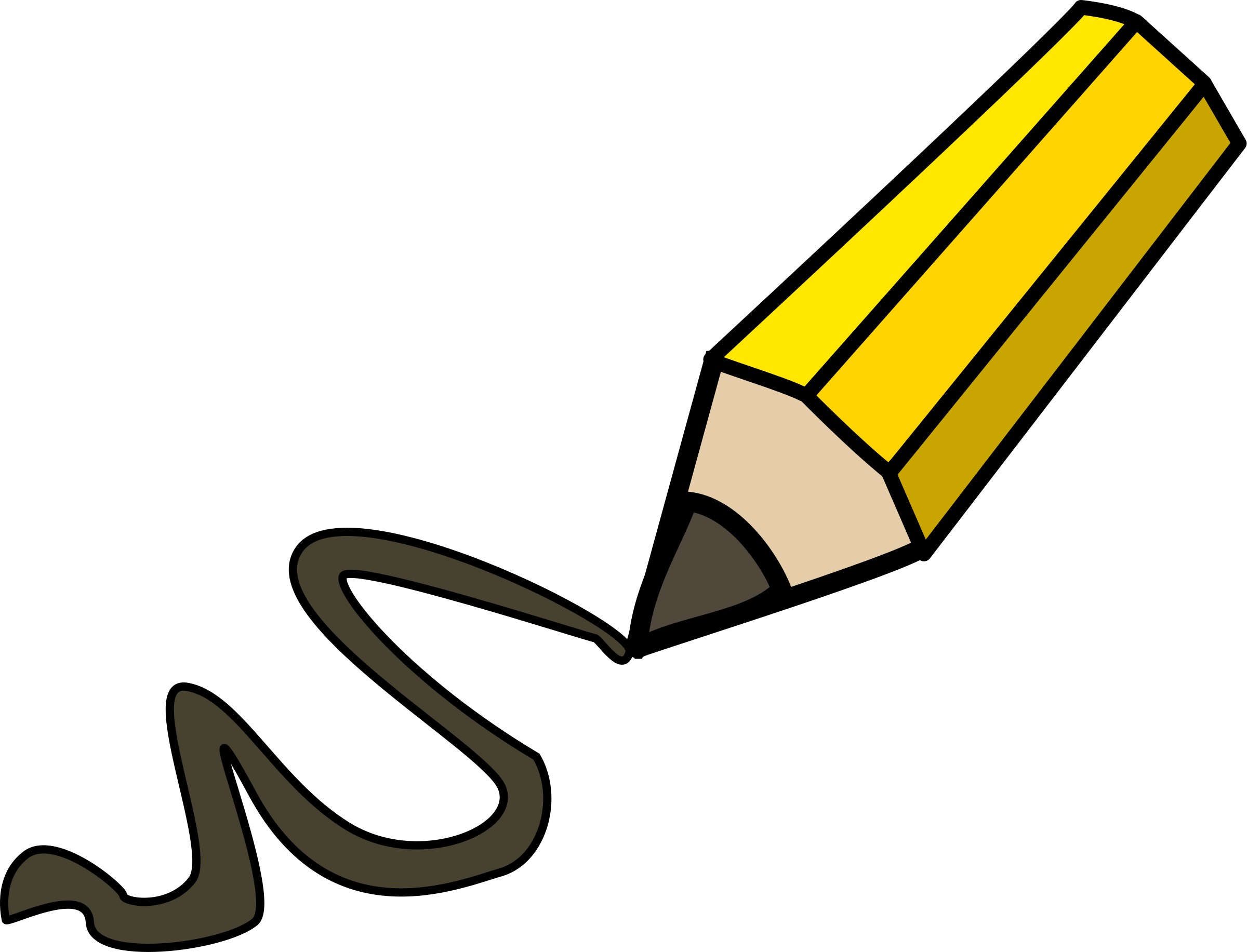 Pencil doodling big image. Write clipart task clipart royalty free library