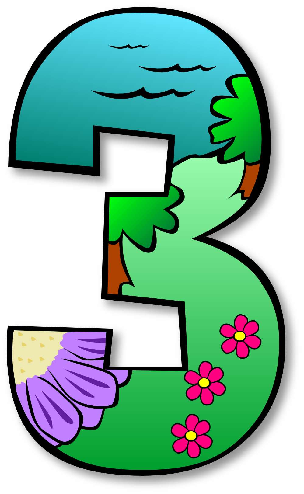 Numbers clipart natural number. Clip art