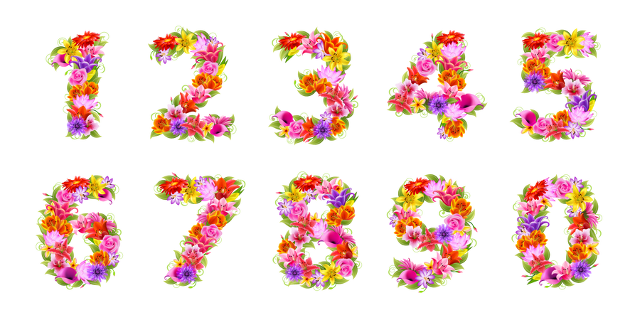 Numbers clipart floral. By flashtuchka on deviantart