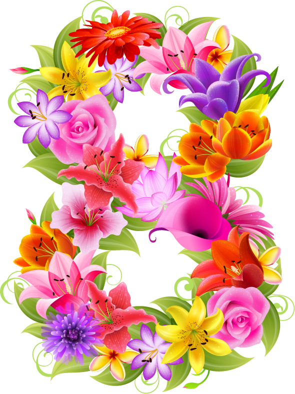 Numbers clipart floral. Pin by m aqib