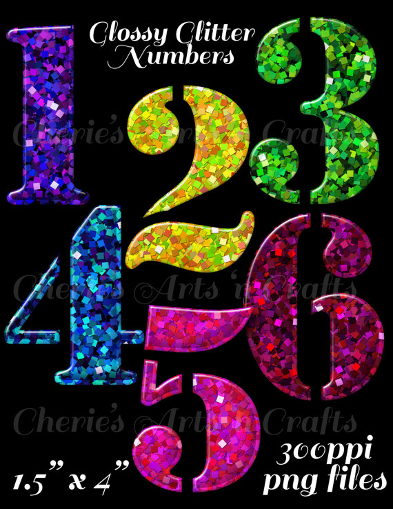 Numbers clipart glitter. Gold stencil font graphics