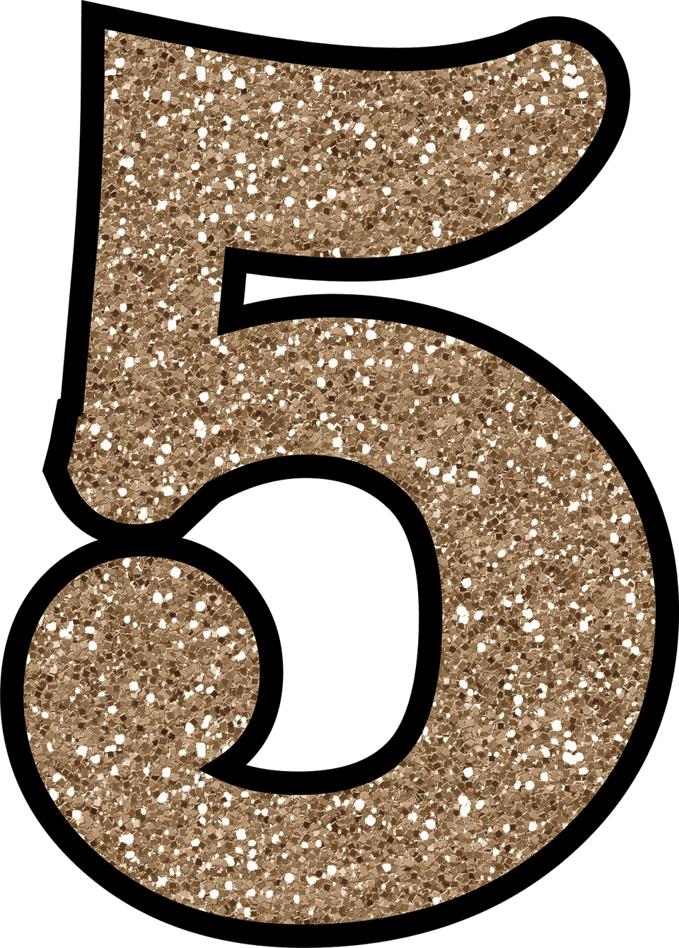 pink glitter number 5 png