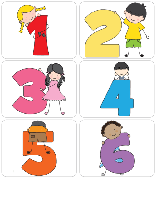 Numbers clipart pre school. Kid s learning flashcards