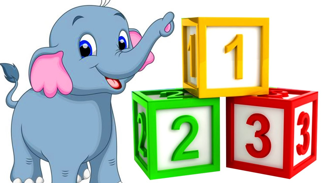 Numbers clipart pre school. Elephant rhymes for kids