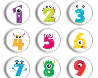 Numbers clipart pre school. Number magnets for counting