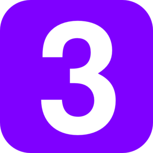 Numbers clipart three. Number violet clip art