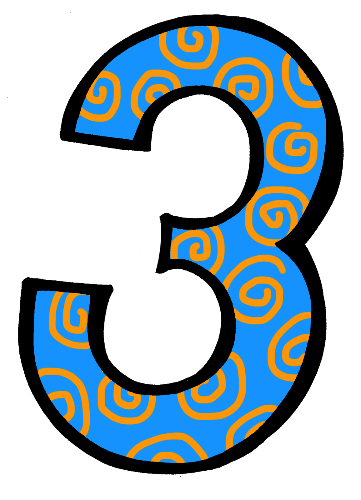 Numbers clipart three. Free number cliparts download