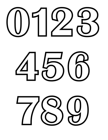 collection of pictures. Numbers drawing clip black and white download