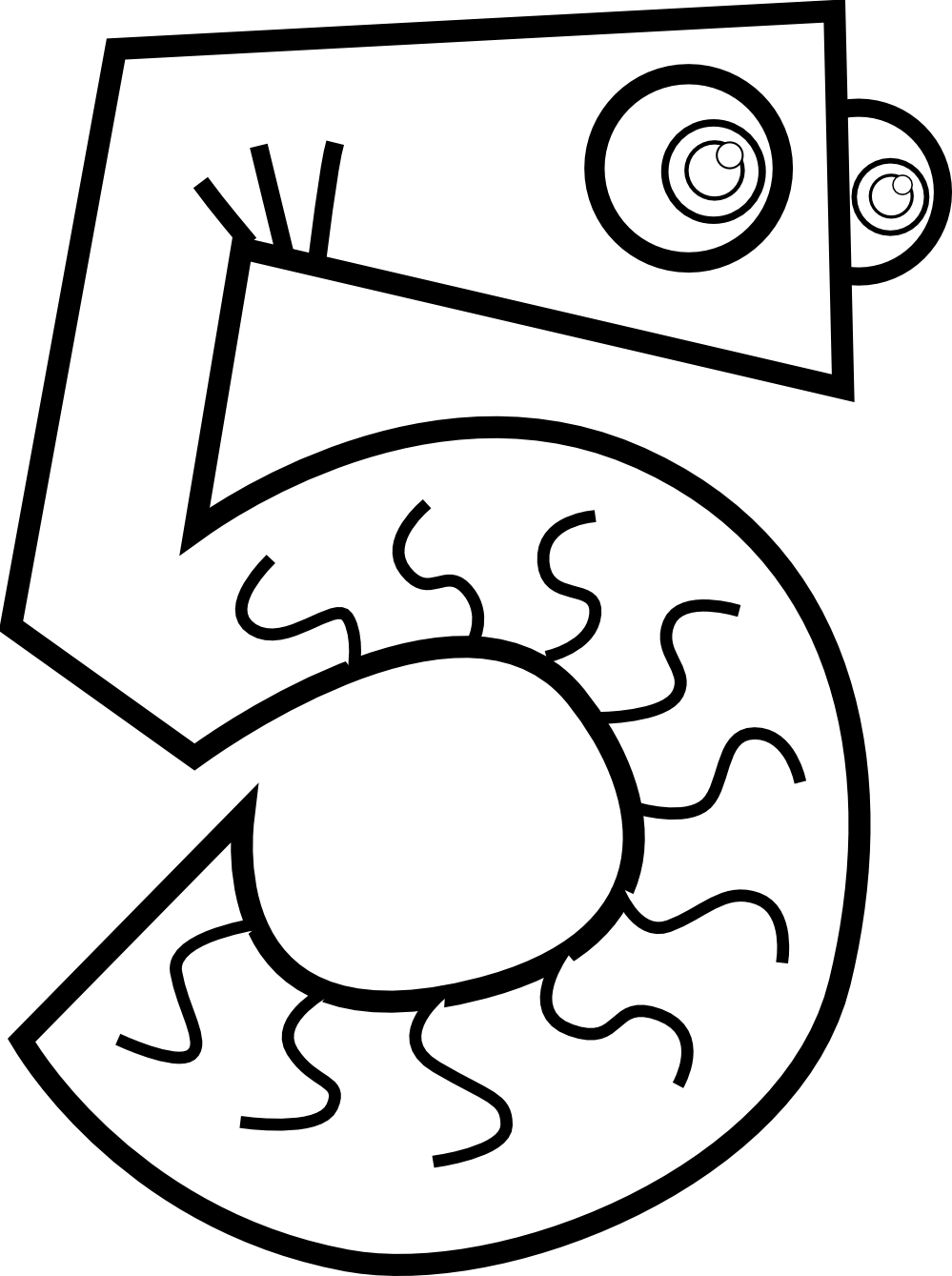 Numbers drawing easy. At getdrawings com free jpg black and white stock