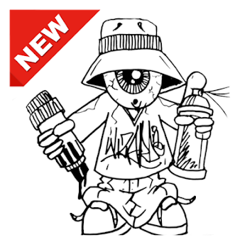 Numbers drawing graffiti. Download characters apk latest
