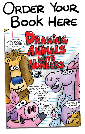 Numbers drawing harptoons. Click here to order