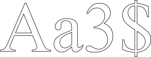 Numbers drawing printable. Outline letters and signs