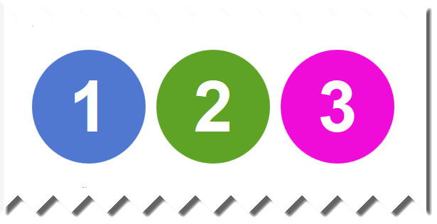 Numbers in circles png. Colored numbered using pure