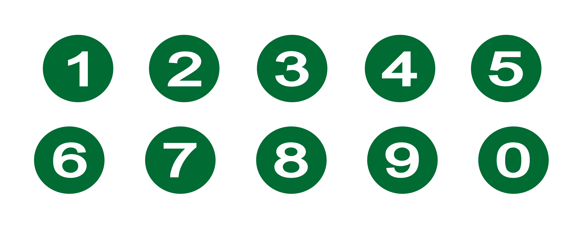 Numbers in circles png. Collection of clipart