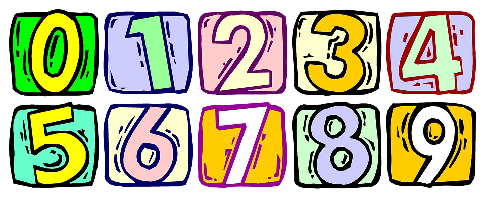 Numbers png. Pic vector clipart psd