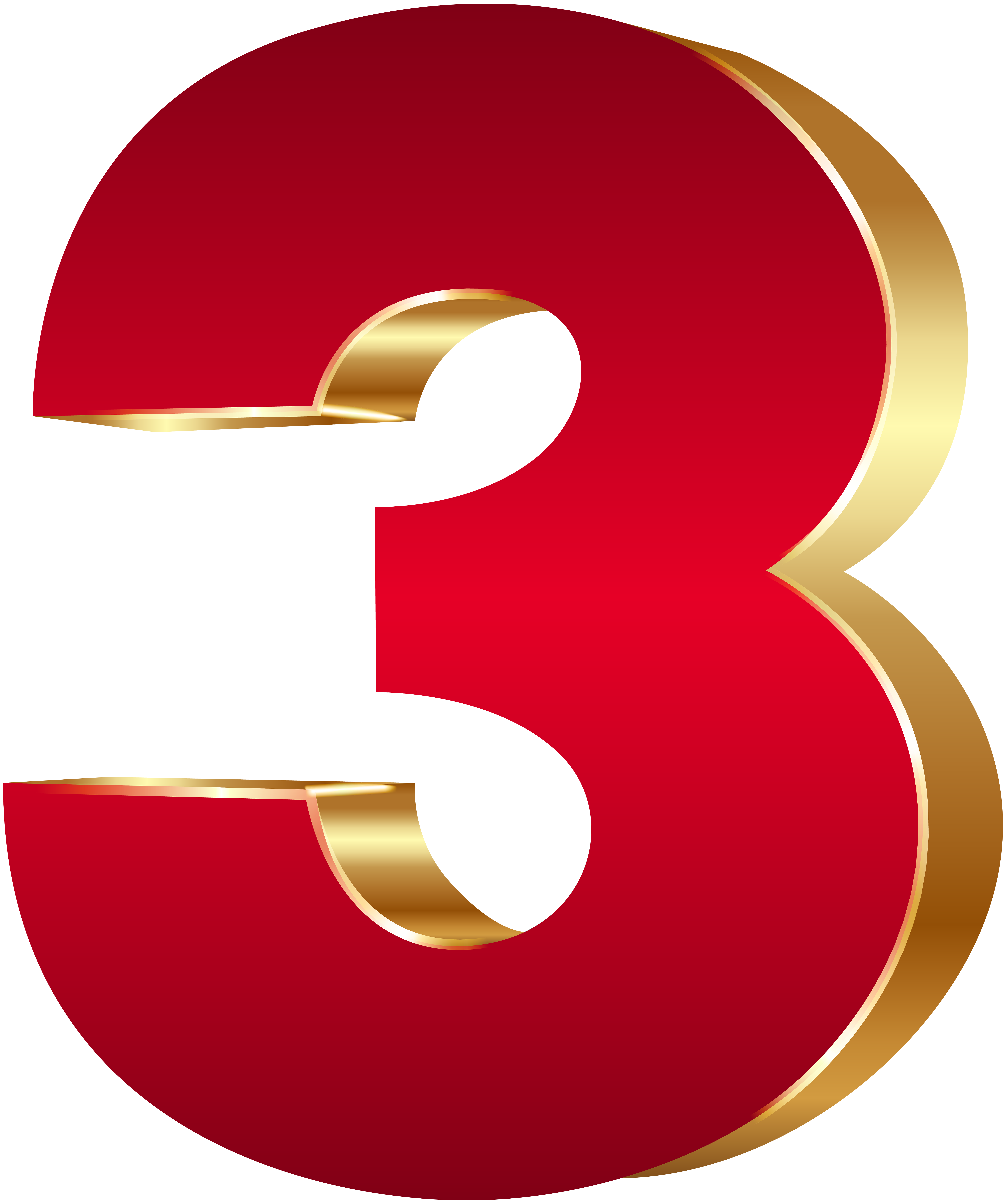 Numbers png. D number three