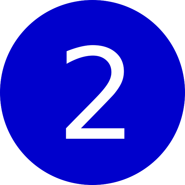 Numero 2 png. Image without background