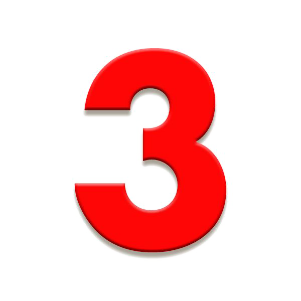 Numero 3 png. Number download image vector