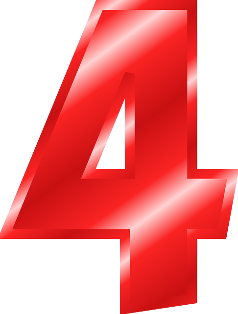 Red numbers png. Image number digit figure