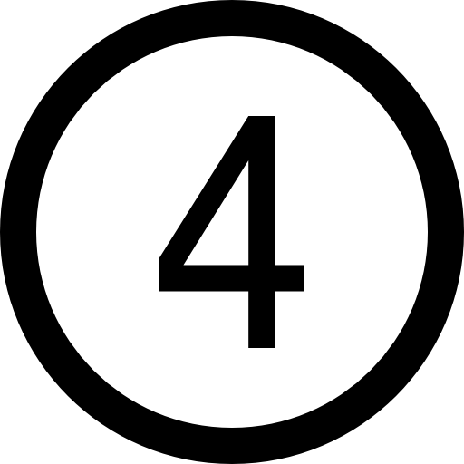 number 4 icon png