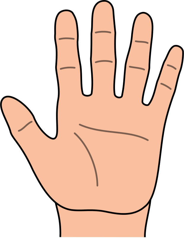 Hands hand outline kids. Air clipart kid clip black and white download
