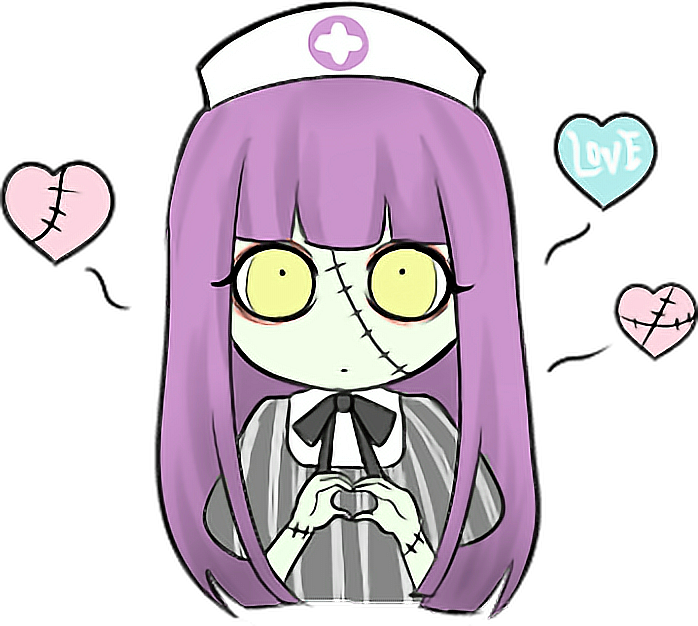 Nurse clipart halloween. Zombie doctor kawaii love