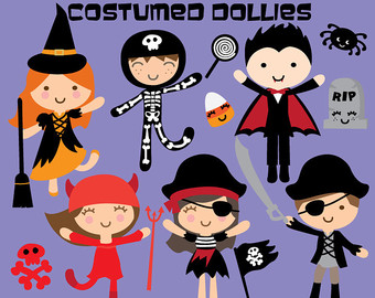 Nurse clipart halloween. Cute kids kawaii clip