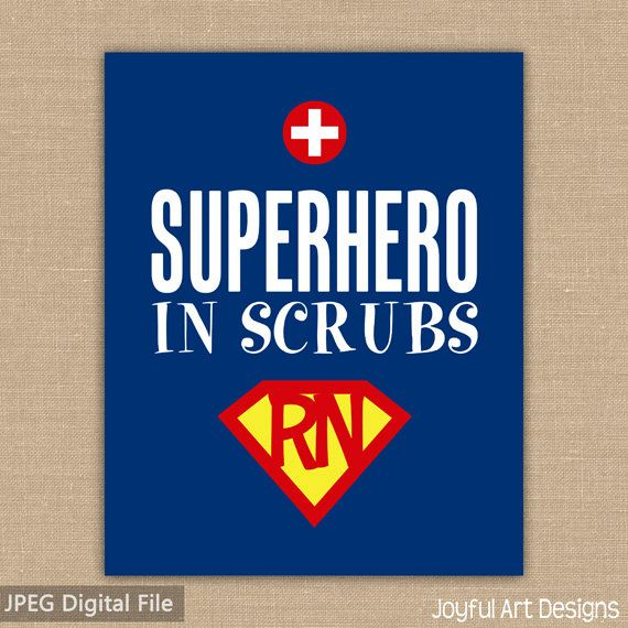Nurse clipart hero. Superhero in scrubs printable
