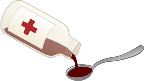 Nurse clipart medication. Cough syrup and spoon