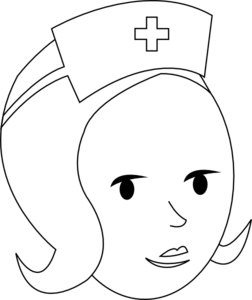 Nurse clipart vector. Outline clip art at