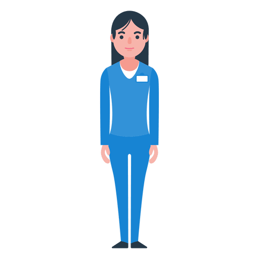 Nurse walking png. Woman character transparent svg