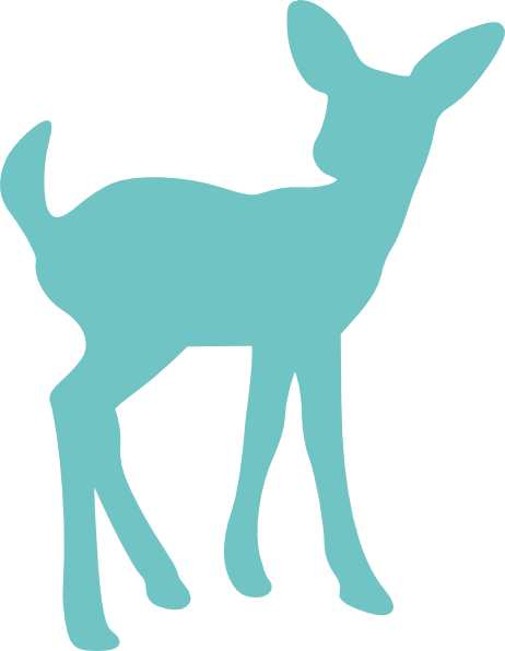 Nursery drawing deer. Baby silhouette clip art