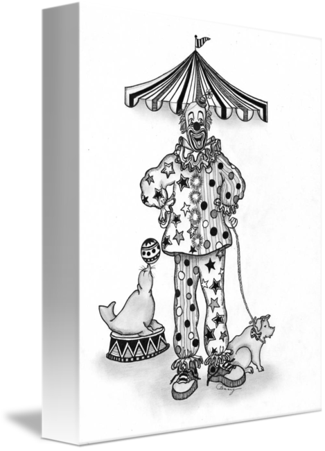 Nursery drawing ink. Pen and clown with