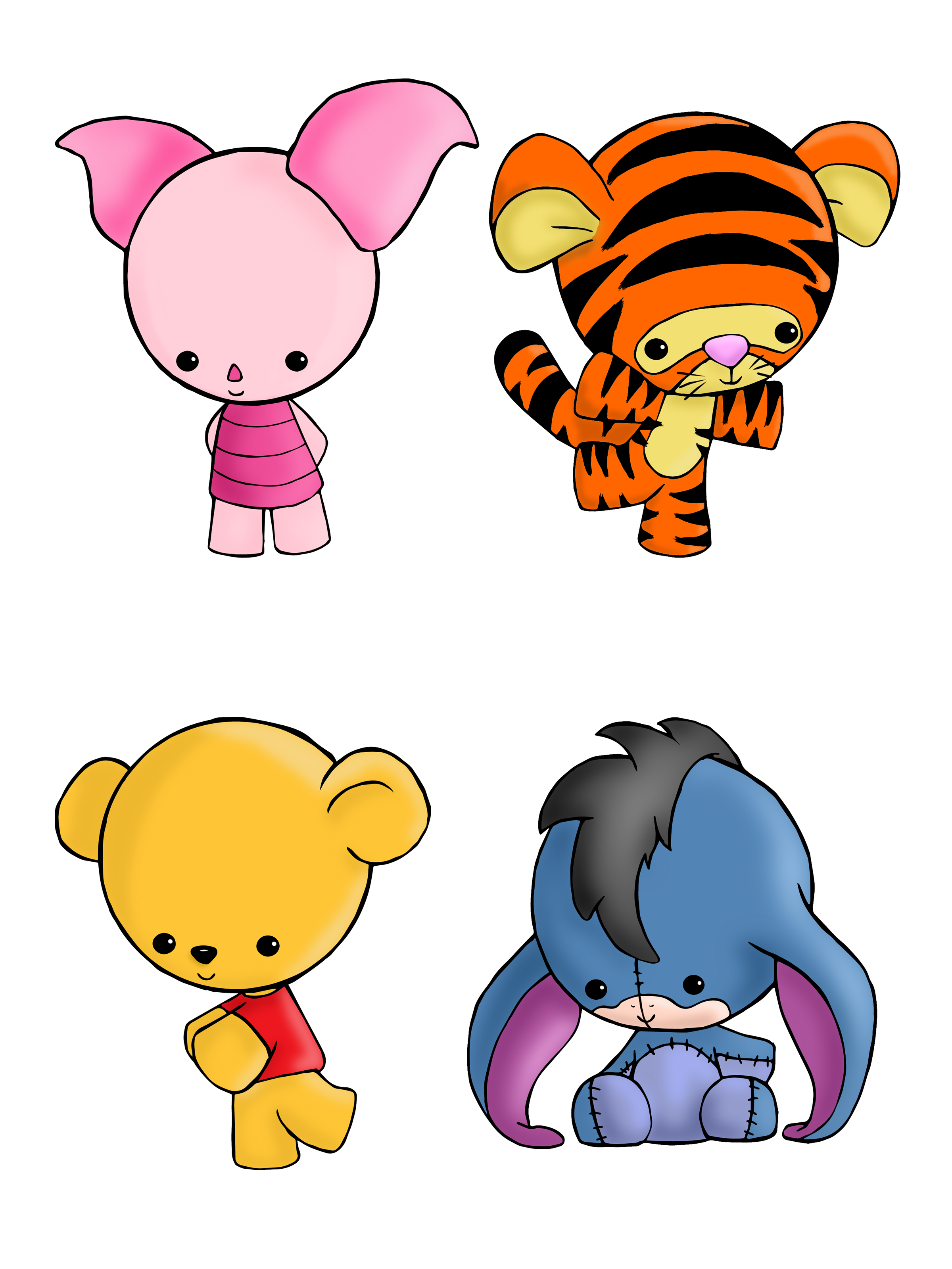 Nursery drawing winnie the pooh. Set available on shirts