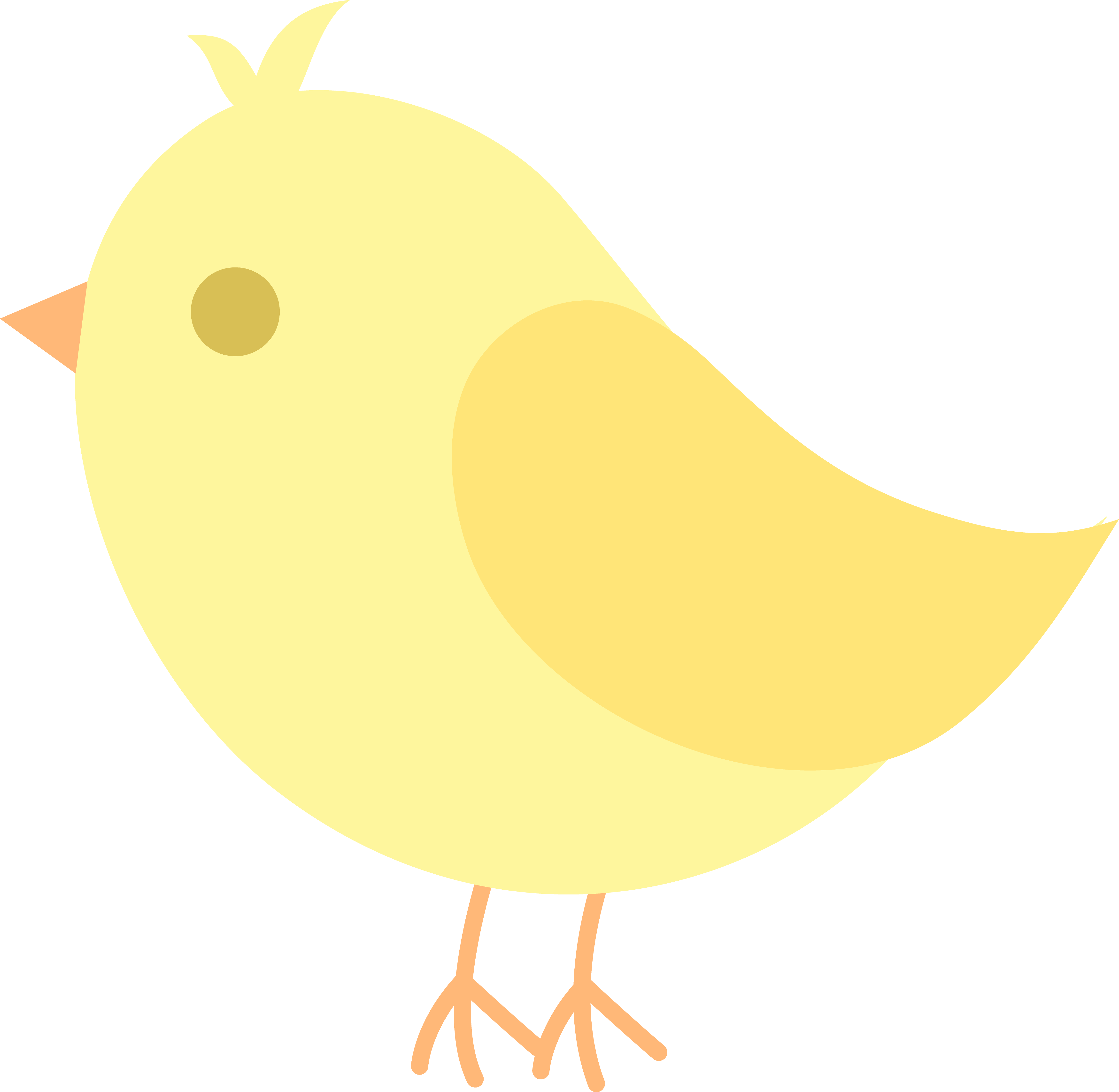 Bird clipart at getdrawings. Nursery drawing yellow png transparent download