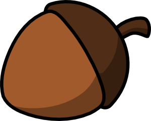 Nuts vector outline. Cartoon nut clip art