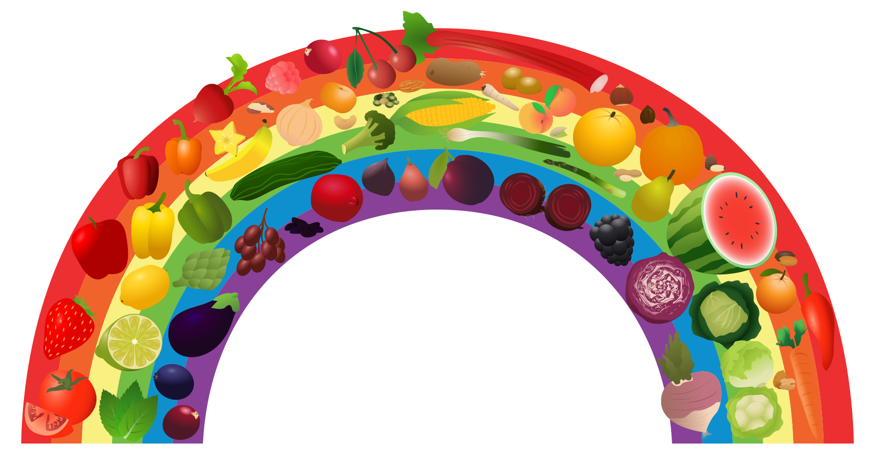 Healthy clipart healthy diet. View rainbow png free