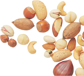Nuts drawing oil seed. And brain health for