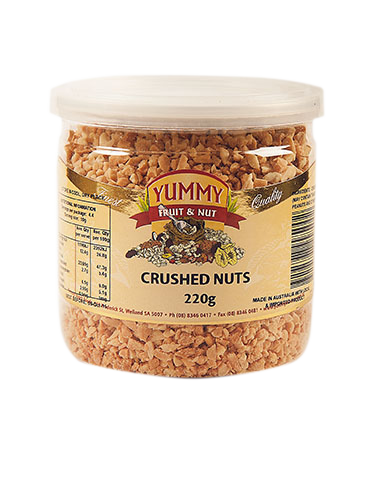 Nuts transparent crushed. Jar g yummy snack