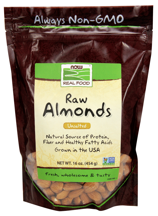 Nuts transparent fatty. Raw almonds now foods