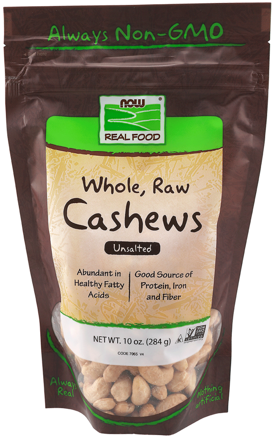 Nuts transparent fatty. Cashews whole raw unsalted