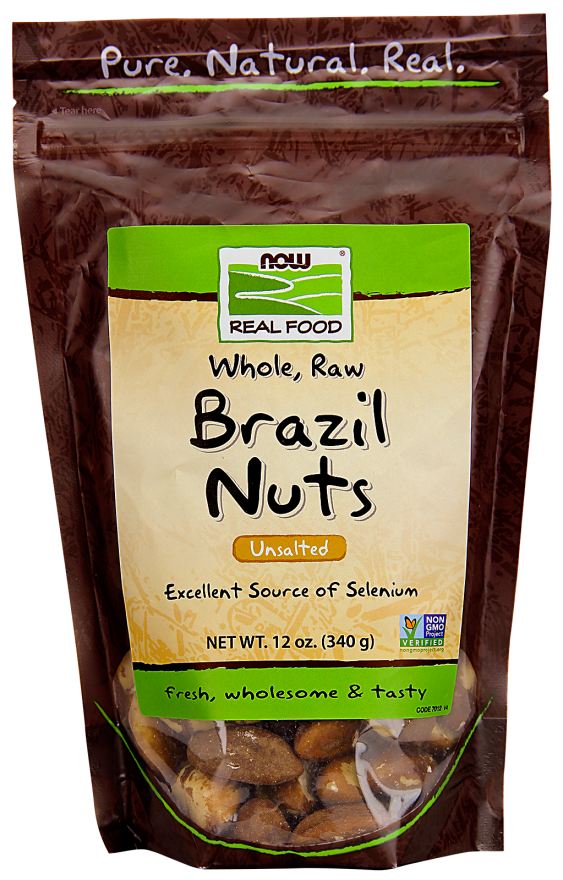 Nuts transparent fresh. Brazil whole raw unsalted
