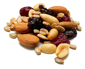 Nuts transparent healthy mix. Travel snacks you