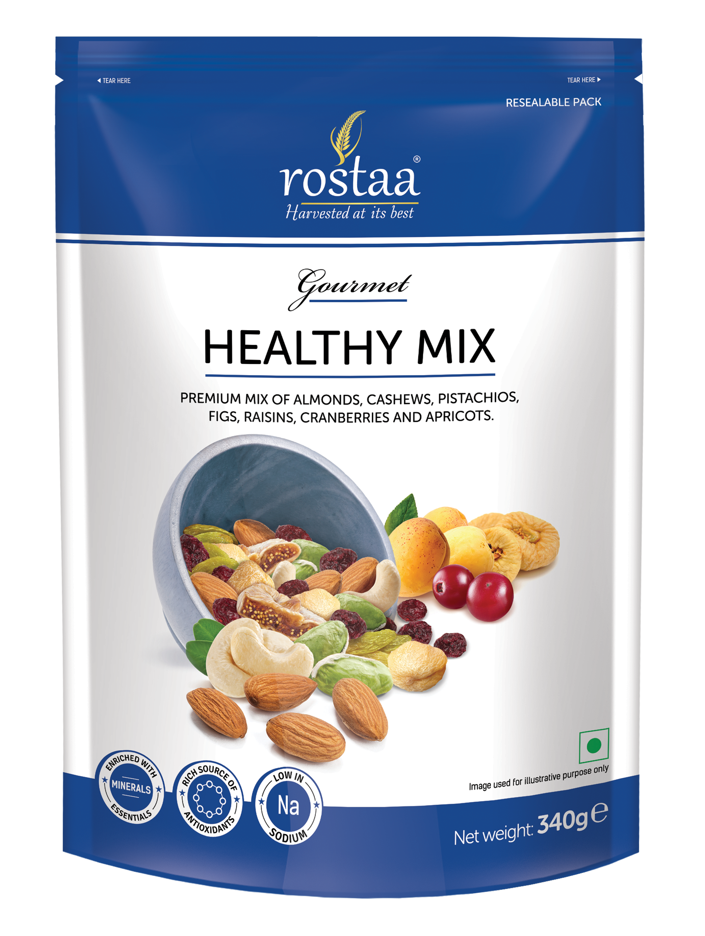 Nuts transparent healthy mix. Royal dry fruits