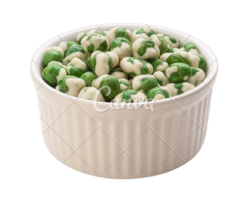 Nuts transparent pea. Wasabi peas photos by