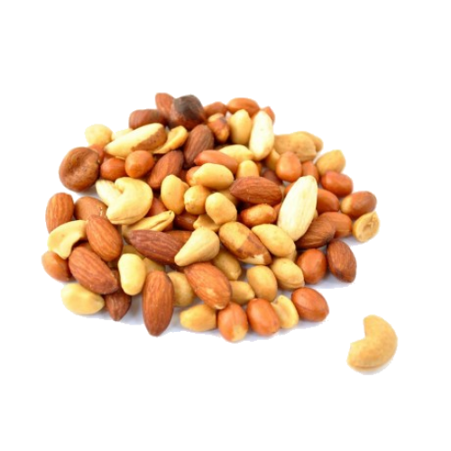 nuts transparent unsalted