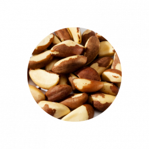 Nuts transparent wall. Organic highest raw quality